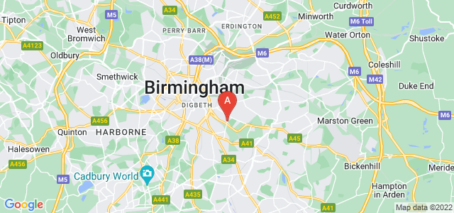 Google static map for Small Heath