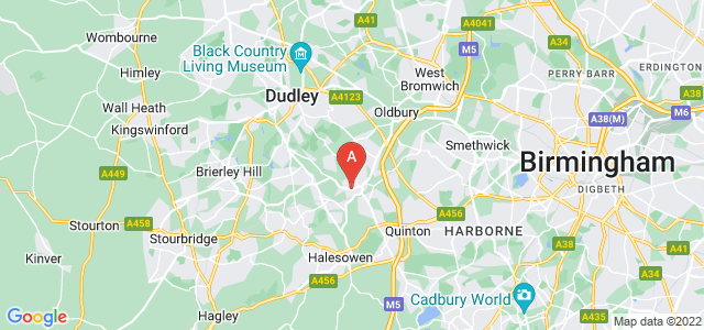 Google static map for Rowley Regis