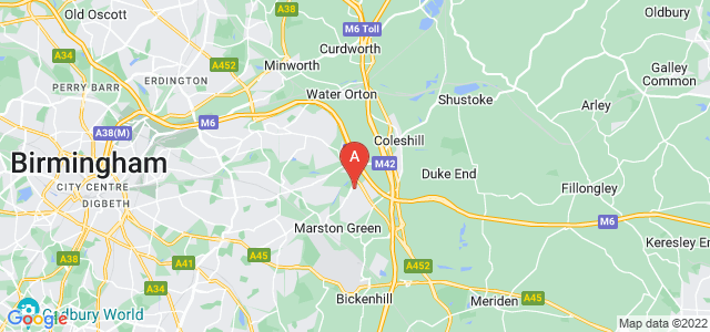 Google static map for Chelmsley Wood