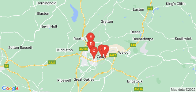 Google static map for Corby