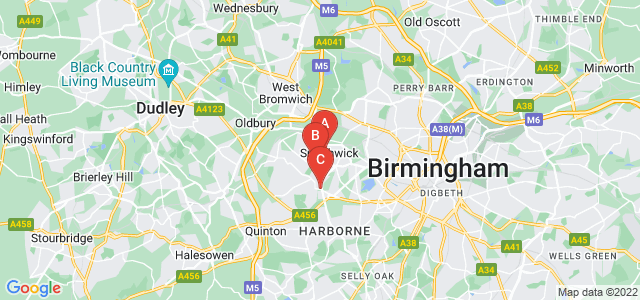 Google static map for Smethwick