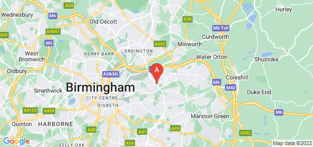 Google static map for Hodge Hill