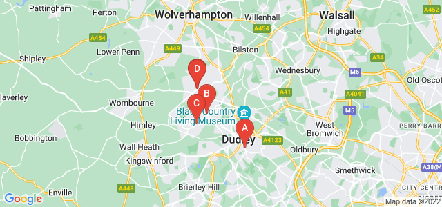 Google static map for Dudley