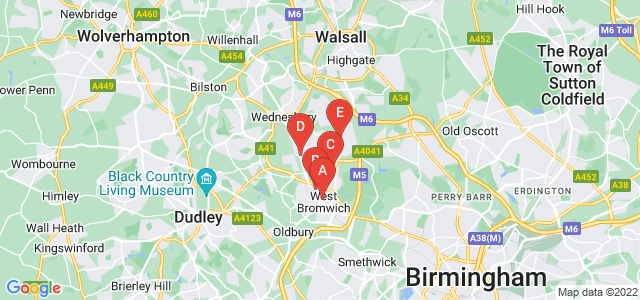 Google static map for West Bromwich