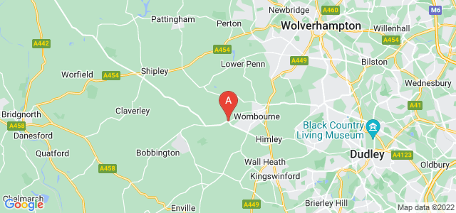 Google static map for Wombourne