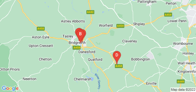 Google static map for Bridgnorth