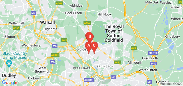 Google static map for Kingstanding