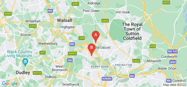 Google static map for Great Barr