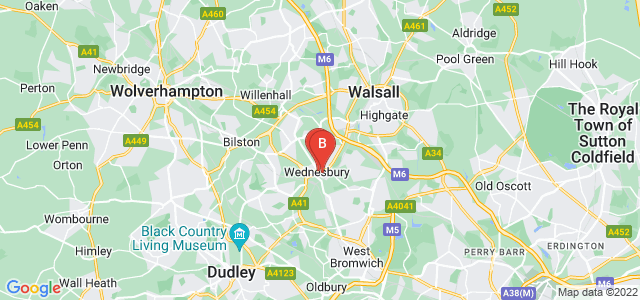 Google static map for Wednesbury