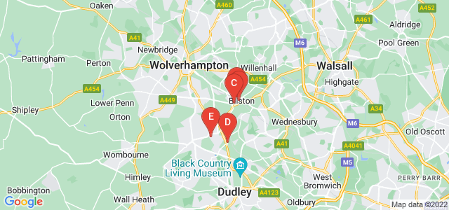 Google static map for Bilston