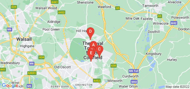 Google static map for Sutton Coldfield