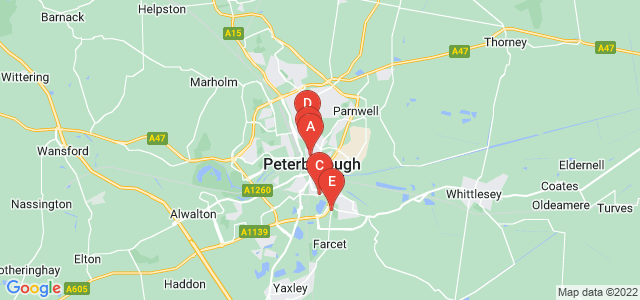 Google static map for Peterborough