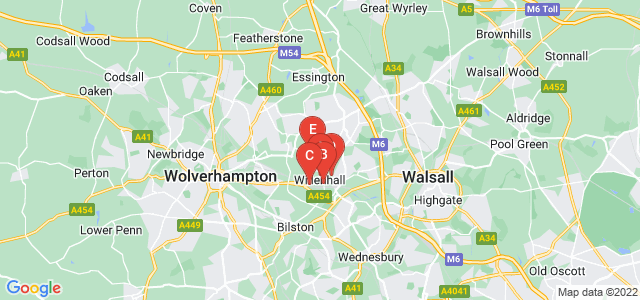 Google static map for Willenhall