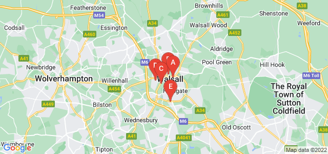 Google static map for Walsall