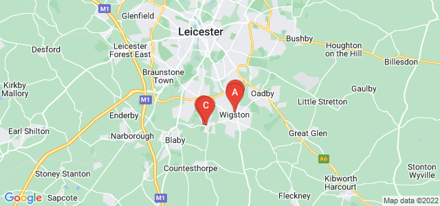 Google static map for Wigston