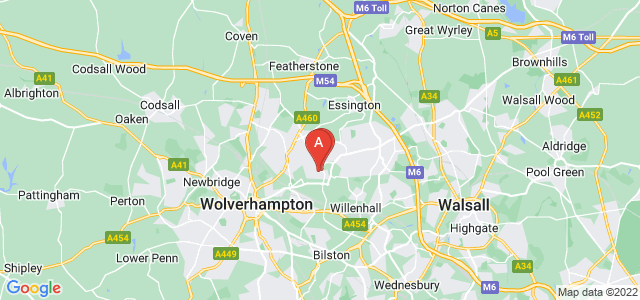 Google static map for Wednesfield