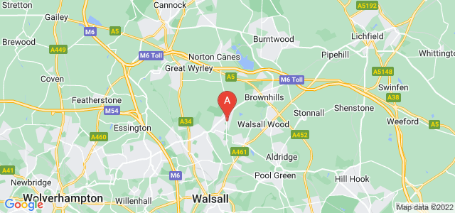 Google static map for Pelsall