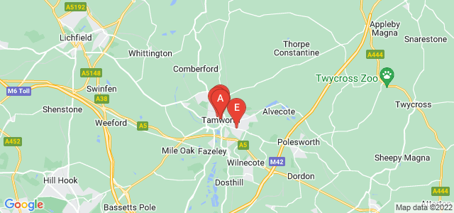 Google static map for Tamworth