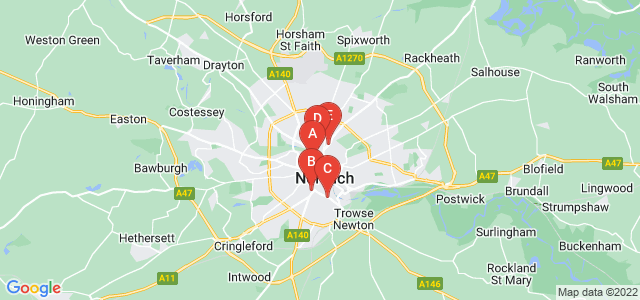 Google static map for Norwich