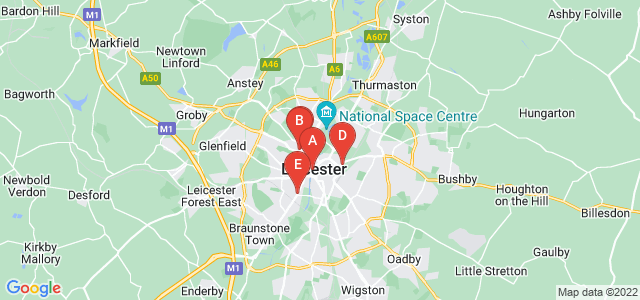 Google static map for Leicester