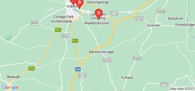 Google static map for Kilkenny