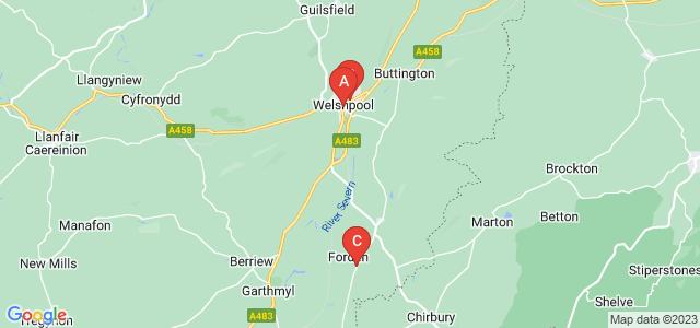 Google static map for Welshpool