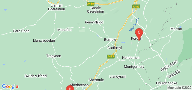 Google static map for Powys