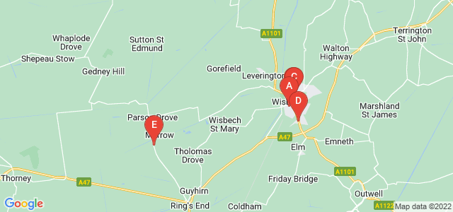 Google static map for Wisbech