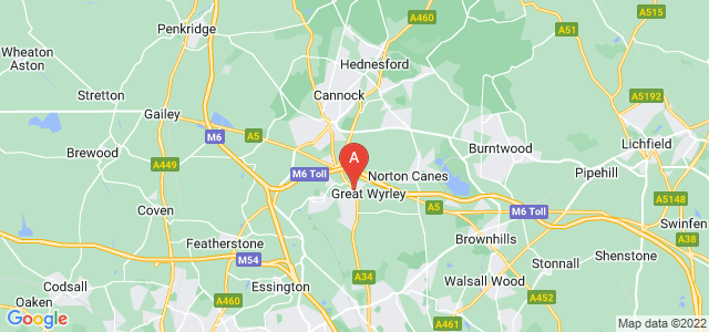 Google static map for Great Wyrley
