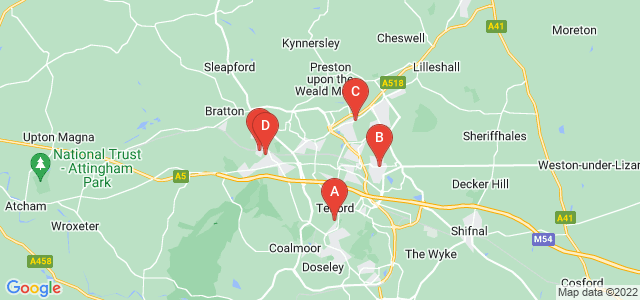 Google static map for Telford