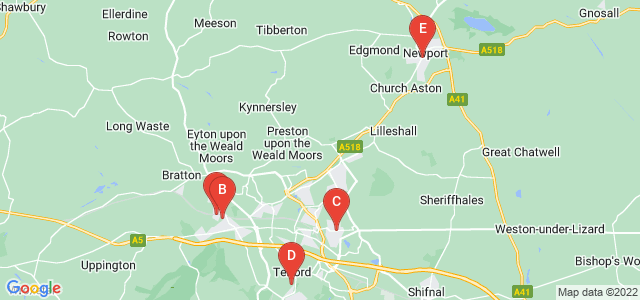 Google static map for Telford And Wrekin