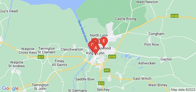 Google static map for Kings Lynn