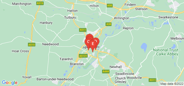 Google static map for Burton On Trent