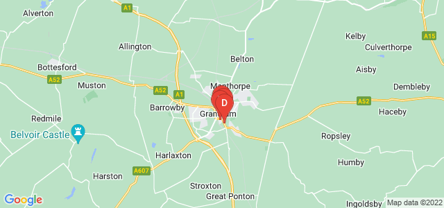 Google static map for Grantham
