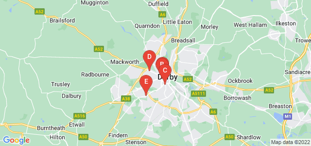 Google static map for Derby
