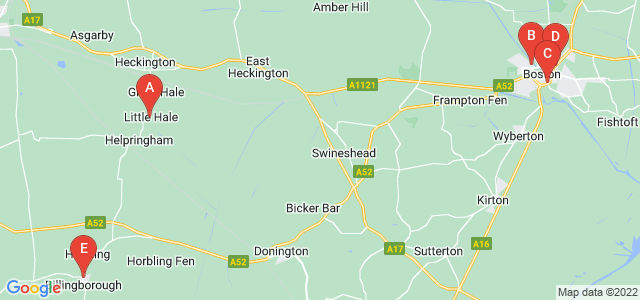 Google static map for Lincolnshire