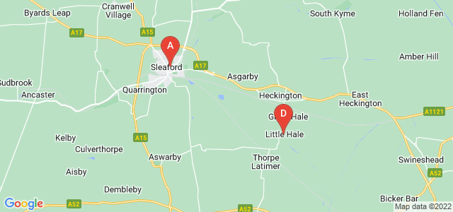 Google static map for Sleaford