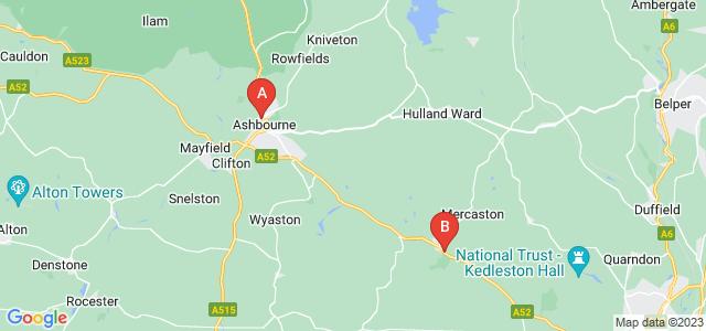 Google static map for Ashbourne