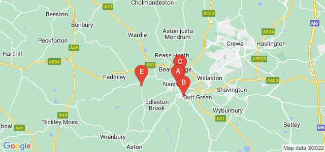 Google static map for Nantwich