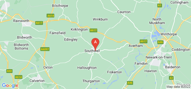 Google static map for Southwell