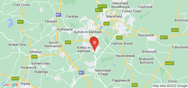 Google static map for Kirkby In Ashfield