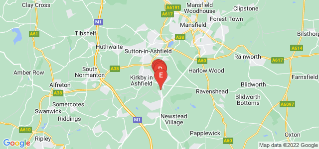 Google static map for Kirkby In Ashfield
