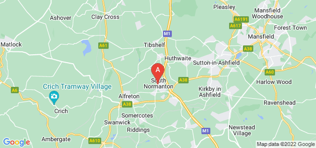 Google static map for South Normanton
