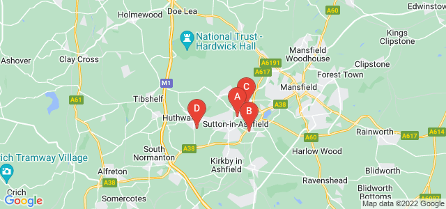 Google static map for Sutton In Ashfield