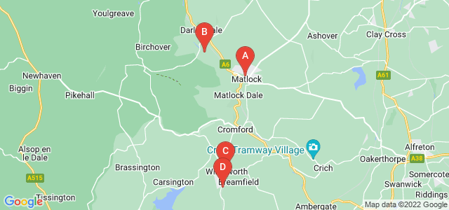 Google static map for Matlock