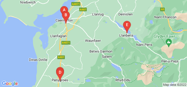 Google static map for Caernarfon