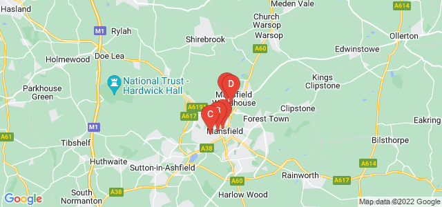 Google static map for Mansfield