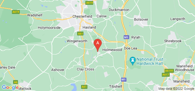 Google static map for North Wingfield