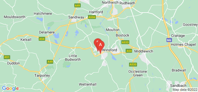 Google static map for Winsford