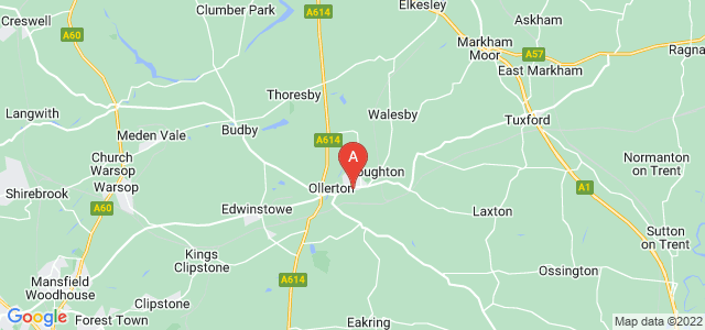 Google static map for New Ollerton